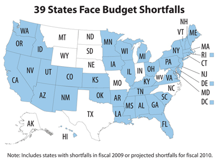 39 States Now Face Budget Shortfalls