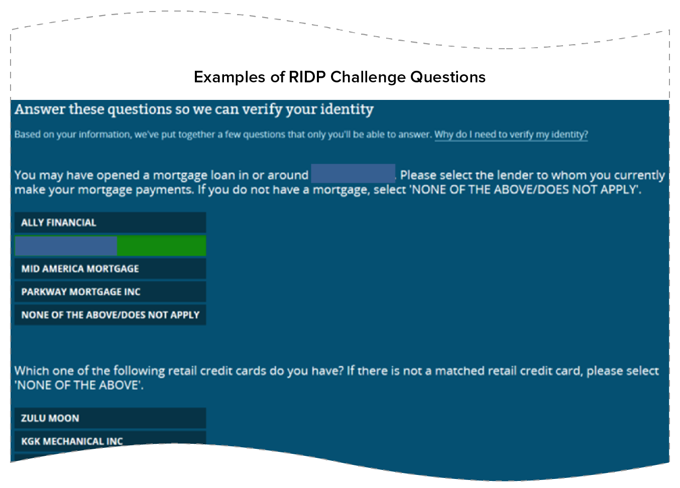 Examples of RIDP Challenge Questions