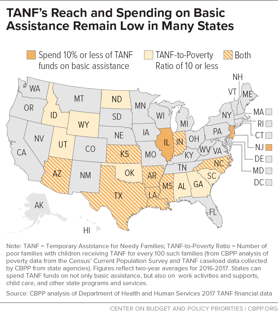 TANF's Reach and Benefit Levels Remain Low in Many States
