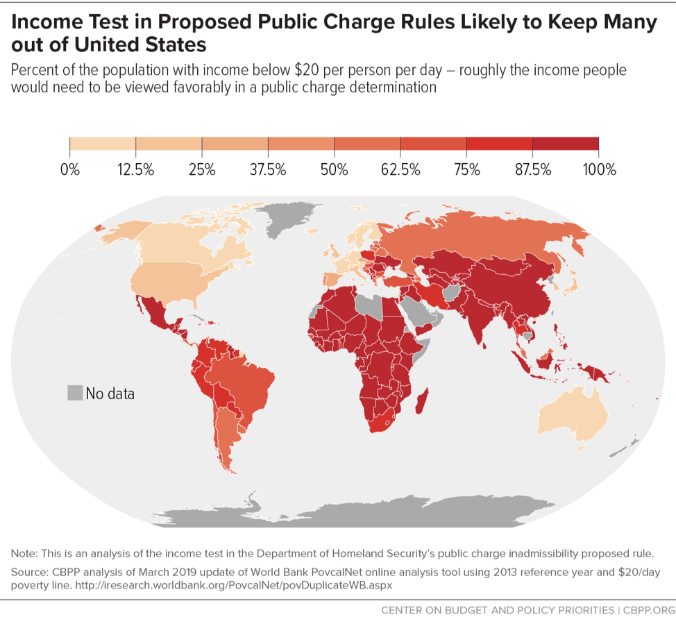 Income Test in Proposed Public Charge Rule Likely to Keep Many out of United States