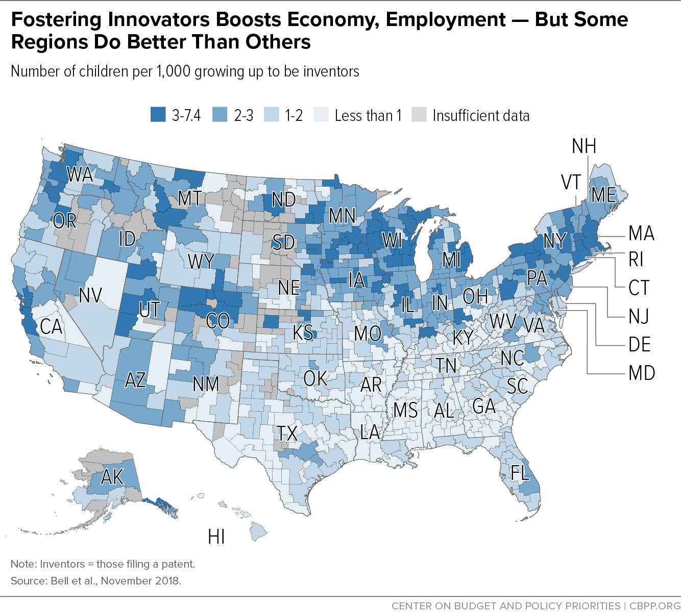 Fostering Innovators Boosts Economy, Employment — But Some Regions Do Better Than Others