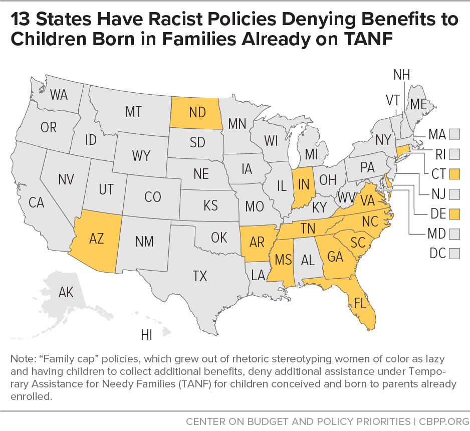 13 States Have Racist Policies Denying Benefits to Children Born in Families Already on TANF