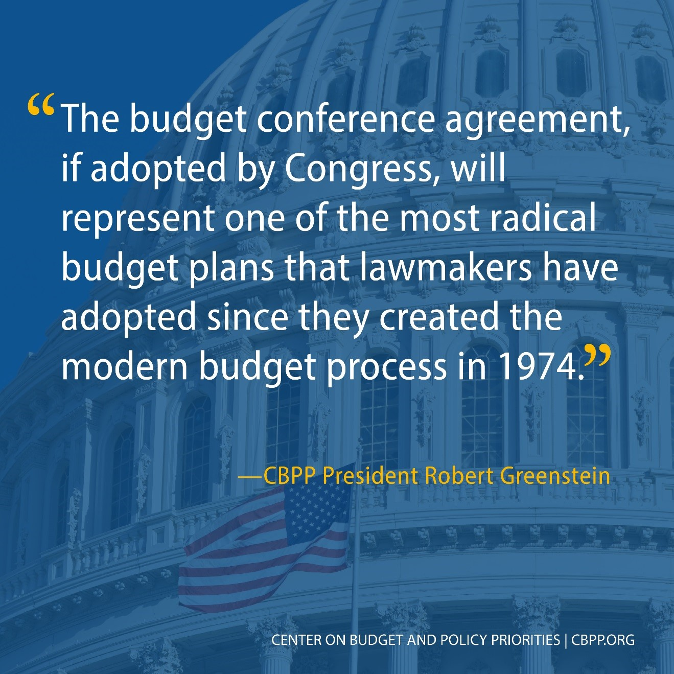 The budget conference agreement, if adopted by Congress...