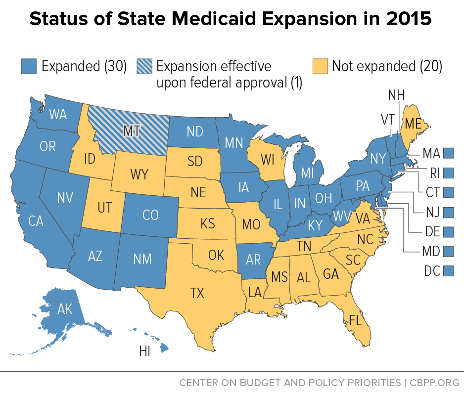 Status of State Medicaid Expansion in 2015