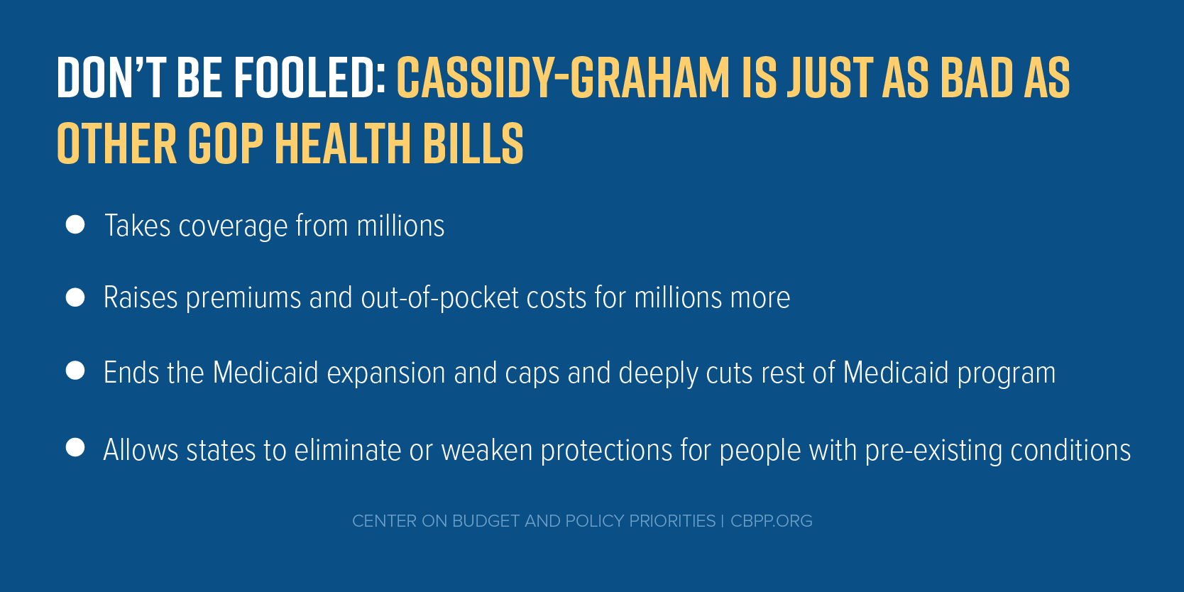 Don't Be Fooled: Cassidy-Graham Is Just As Bad As Other GOP Health Bills