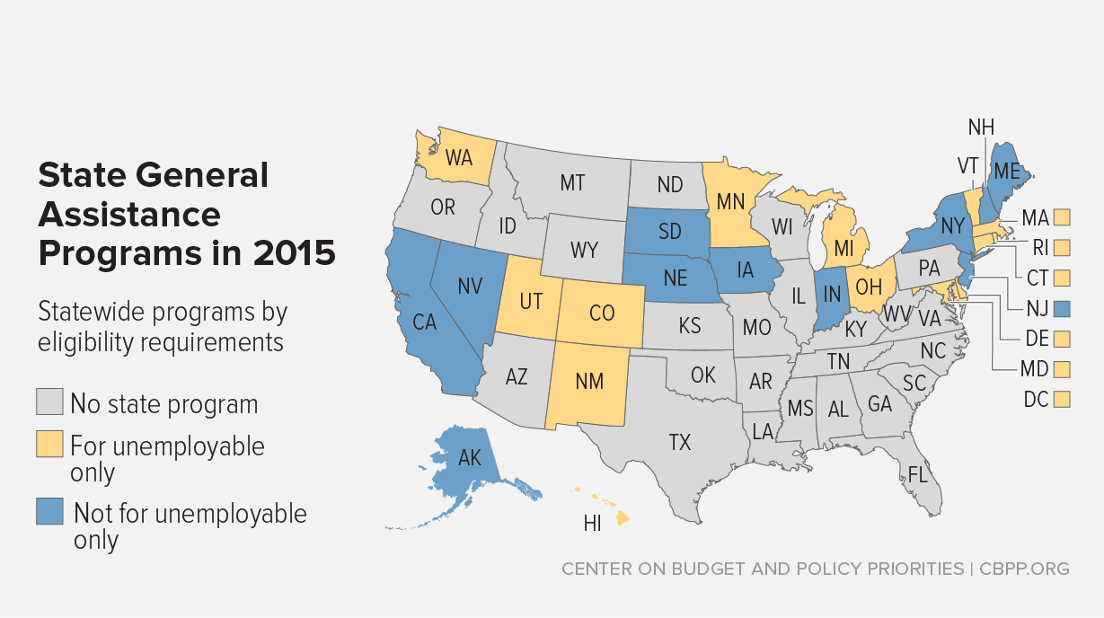 State General Assistance Programs Are Weakening Despite Increased Need  Center On Budget And Policy Priorities State