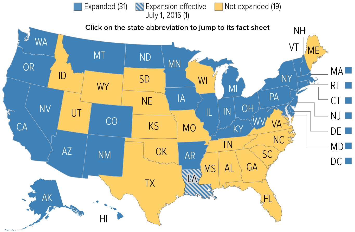 Medicaid Expansion Map Medicaid Expansion Map 2.2.16 | Center on Budget and Policy Priorities Medicaid Expansion Map