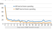 SNAP Household Spending on Food Falls Throughout the Month