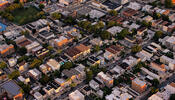 Rowhouses from the air