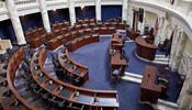 Empty senate chamber