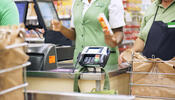 Card Reader at Grocery Store