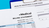 Insurance claim form and billing statement