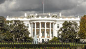 White House Under Grey Skies