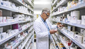 Pharmacist Retrieving Medicine