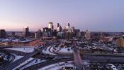 Aerial view of Minneapolis