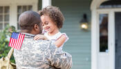 Child with military parent