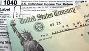 Form 1040 And Refund Check