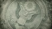 Seal on Dollar Bill Closeup - high res