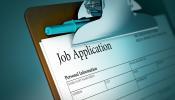 Job Application in Blue
