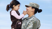 Solider and Daughter