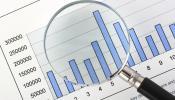 Budget Bar Chart Magnifying Glass