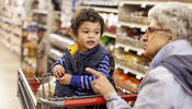 Child in Grocery Cart