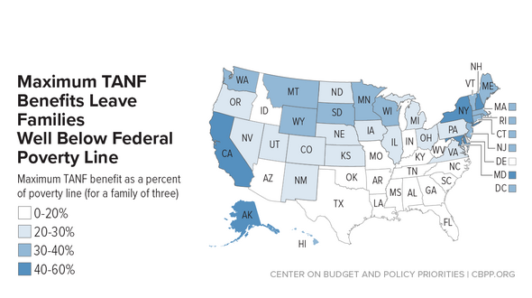 In Focus: Maximum TANF Benefits Leave FamiliesWell Below Federal Poverty Line