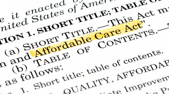 First Page of Affordable Care Act