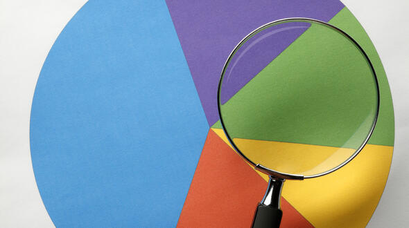 Magnifying Glass and Pie Chart