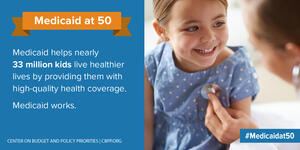 Medicaid at 50: Medicaid helps nearly 33 million kids...