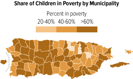 Share of Children in Poverty by Municipality