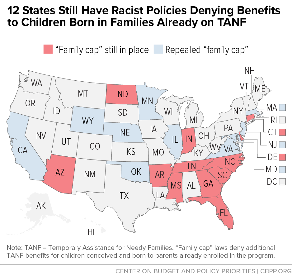 12 States Still Have Racist Policies Denying Benefits to Children Born in Families Already on TANF