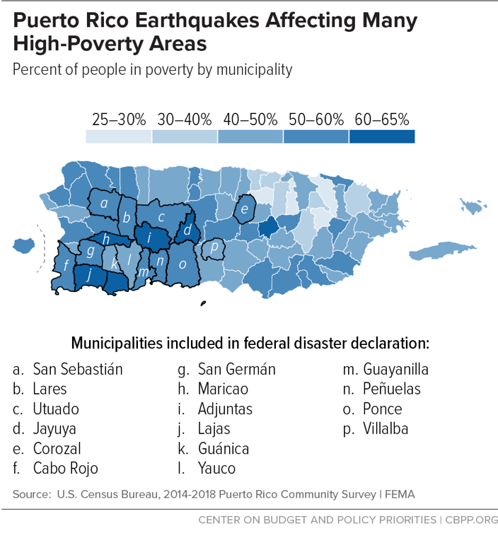 Puerto Rico Earthquakes Affecting Many High-Poverty Areas