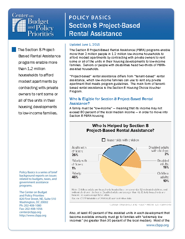 project based section 8 housing Project-based section 8 rental assistance (pbra) is a public-private partnership to maintain affordable rental homes for low-income persons hud provides private.