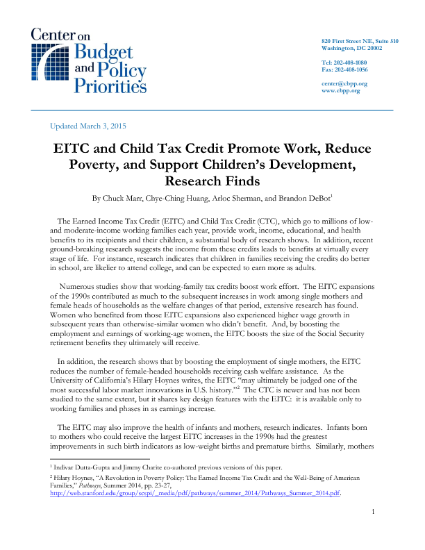 eitc and child tax credit promote work reduce poverty and  file type icon