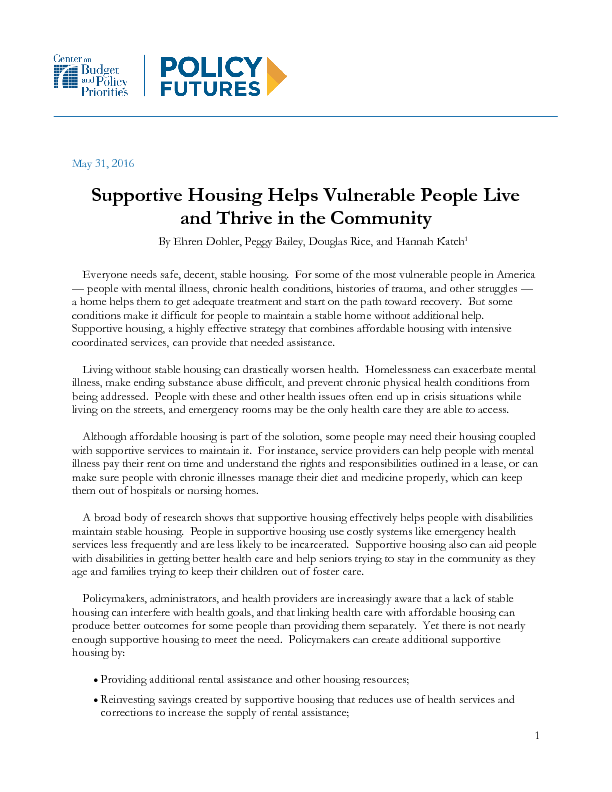 Supportive Housing Helps Vulnerable People Live And Thrive In The