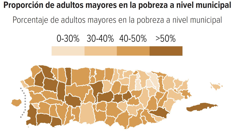 Proporción de adultos mayores en la pobreza a nivel municipal