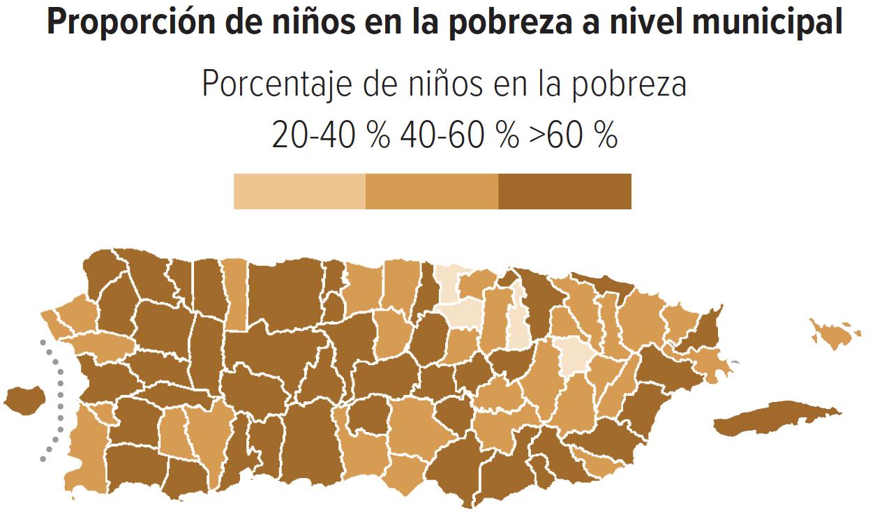 Proporción de niños en la pobreza a nivel municipal