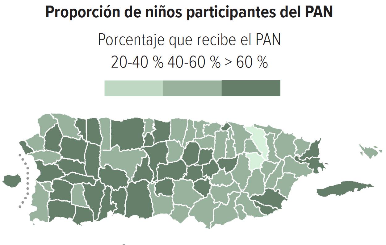 Proporción de niños participantes del PAN